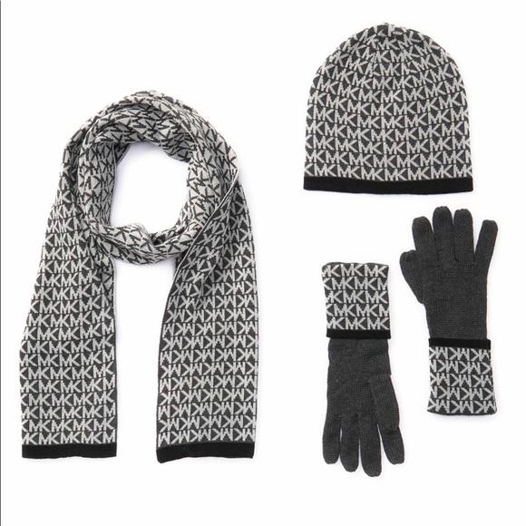 Michael Kors Accessories - Michael Kors Logo Muffler, Hat, & Gloves